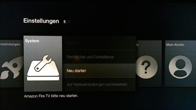 Fire TV neustarten ©COMPUTER BILD