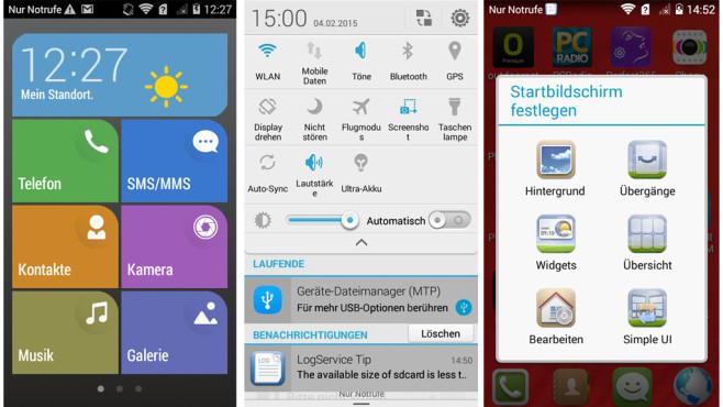 Huawei Ascend Y550 mit der hauseigenen Nutzeroberfläche Emotion UI 2.3 ©COMPUTER BILD