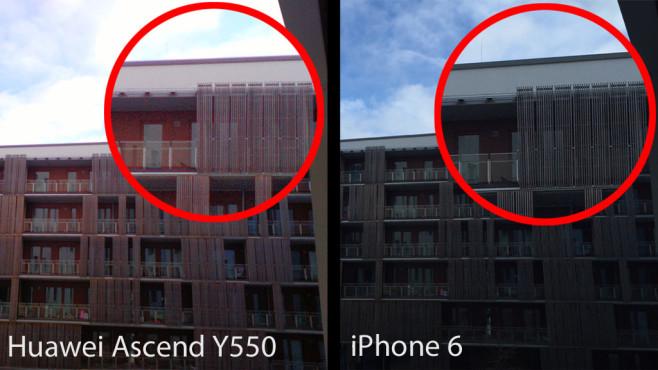 Huawei Ascend Y550: unscharfe Testbilder ©COMPUTER BILD