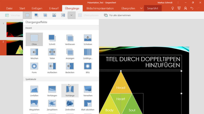 PowerPoint für Windows 10 © COMPUTER BILD