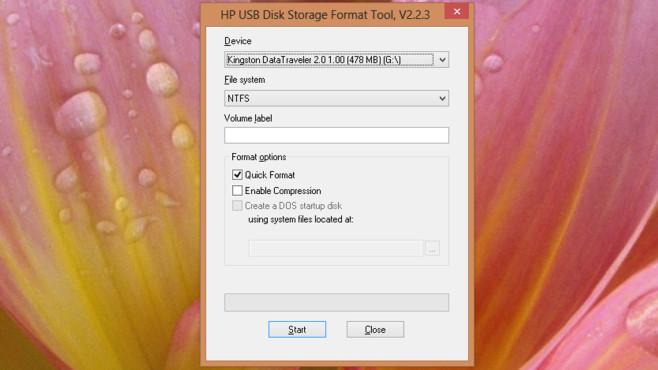 HP USB Disk Storage Format Tool: Problembehaftete USB-Sticks formatieren ©COMPUTER BILD