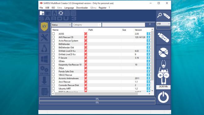 SARDU: Notfall-Systeme für den USB-Stick ©COMPUTER BILD