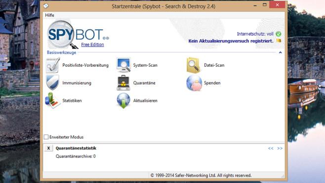 Spybot – Search & Destroy: Digitale Schmarotzer wegfegen ©COMPUTER BILD