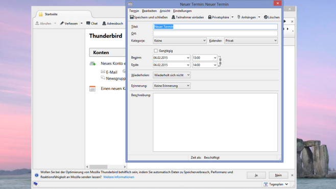 Thunderbird und Lightning: Termine überblicken und absagen ©COMPUTER BILD