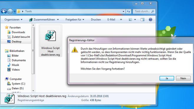 Windows Script Host deaktivieren: Schutz vor Trojanern ©COMPUTER BILD