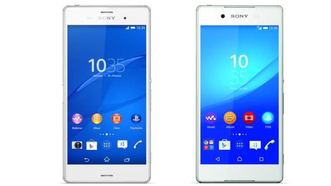 Vergleich Sony Xperia Z3 und Xperia Z3+ ©Sony