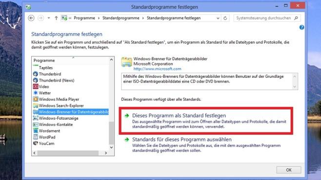 Mit ISO-Dateien verknüpfen ©COMPUTER BILD
