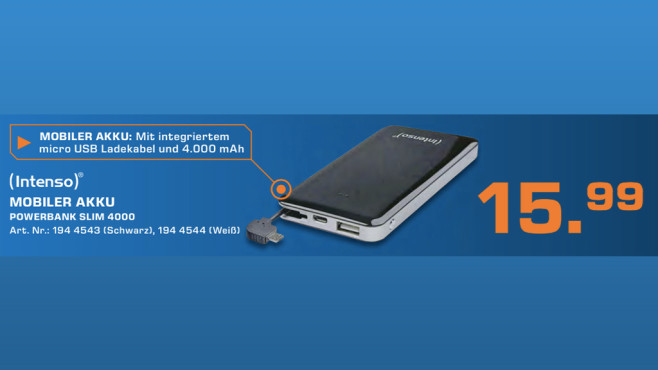 Intenso Powerbank S4000 © Saturn