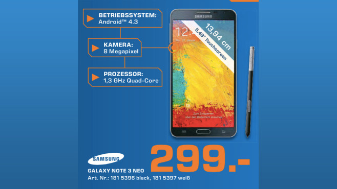 Samsung Galaxy Note 3 Neo © Saturn