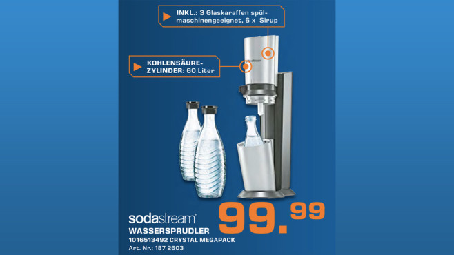 SodaStream Crystal Megapack © Saturn