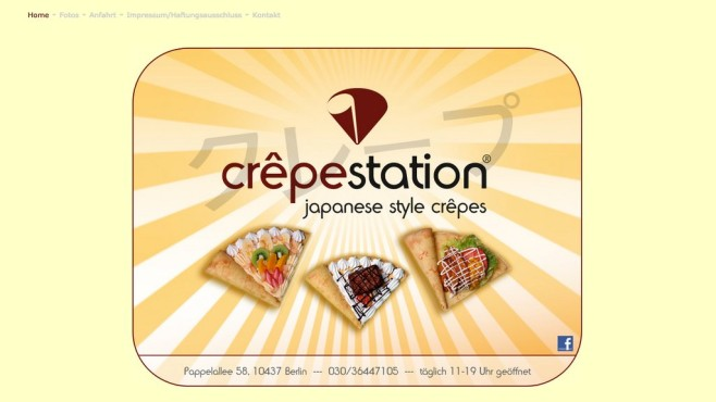 Screenshot Homepage Crepestation © Crepestation