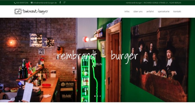 Screenshot Homepage Rembrandt-Burger © Rembrandt-Burger