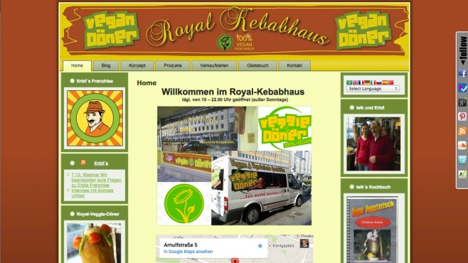 Screenshot Homepage Royal Kebabhaus © Royal Kebabhaus
