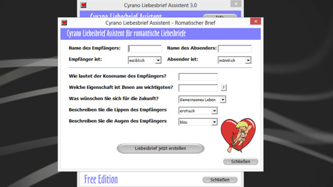 Cyrano Liebesbrief Assistent: Gefühle per Brief offenbaren ©COMPUTER BILD