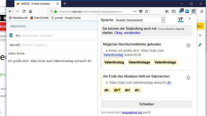 LanguageToolFx: Rechtschreibkontrolle für Firefox ©COMPUTER BILD