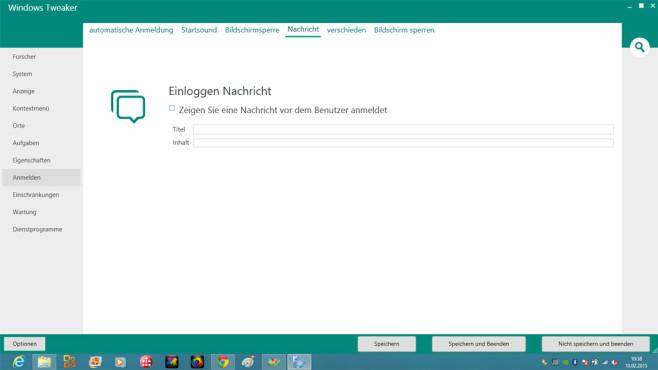Windows Tweaker: Grüße nach dem Hochfahren des PCs ©COMPUTER BILD