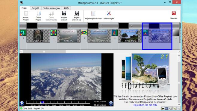 ffDiaporama: Filme mit Erinnerungen erstellen ©COMPUTER BILD