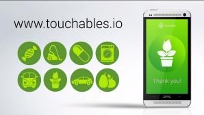 Touchables App und NFC-Sticker ©Touchables