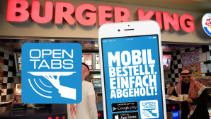Burger King, App, Opentabs ©copyright: opentabs, Celia Peterson/gettyimages