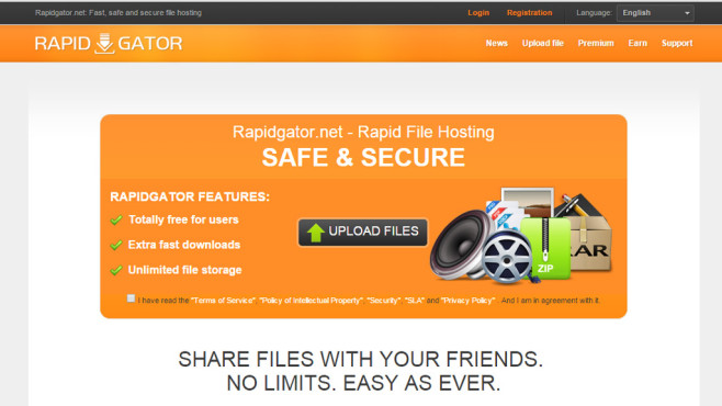 Rapidgator: Filehoster ©Rapidgator