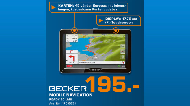 Becker READY 70 LMU © Saturn