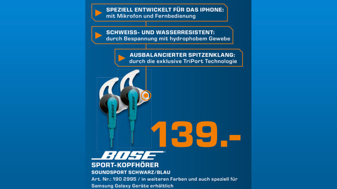 Bose SoundSport Apple © Saturn