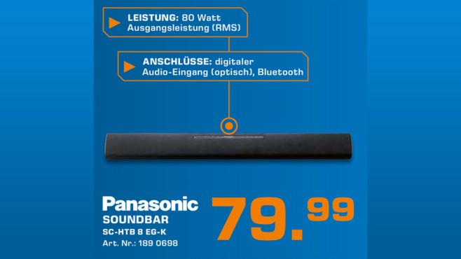 Panasonic SC-HTB8 © Saturn