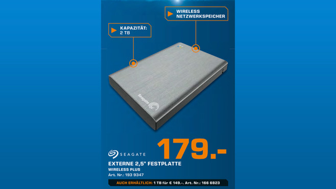 Seagate Wireless Plus 2TB © Saturn
