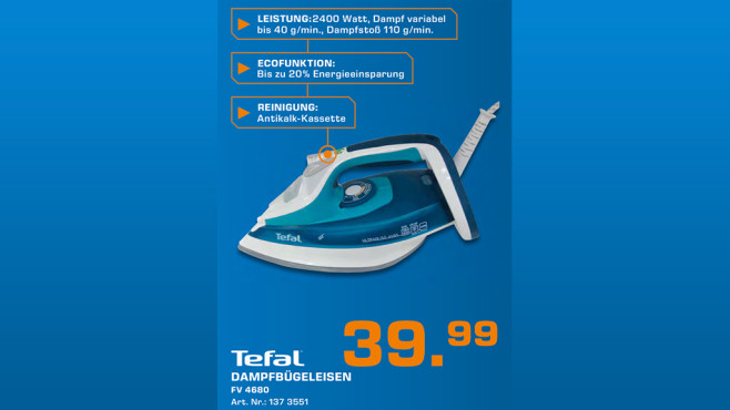Tefal Ultragliss Türkisblau © Saturn