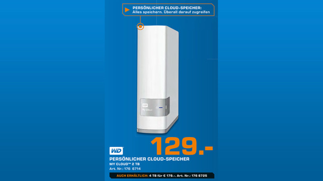 Western Digital My Cloud 2TB © Saturn
