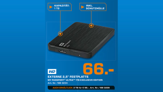 Western Digital My Passport Ultra Exclusive Edition 1TB © Saturn