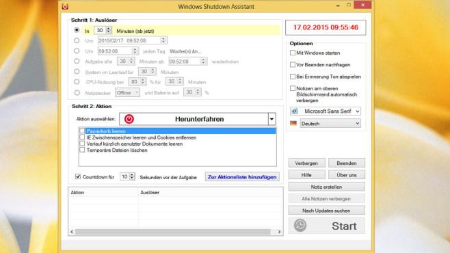 Apowersoft: Windows Shutdown Assistant ©COMPUTER BILD