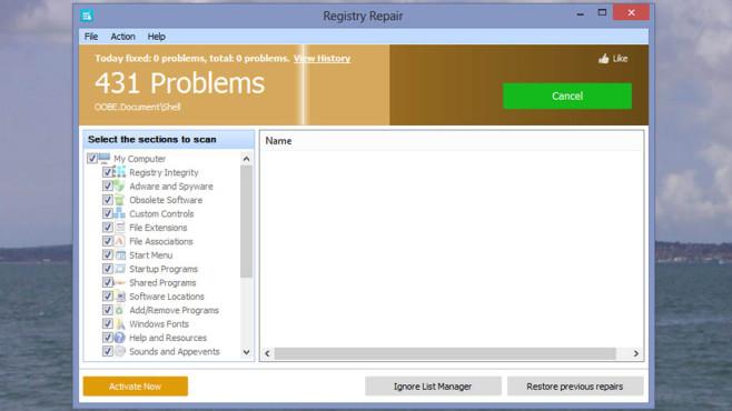 Glarysoft: Glary Registry Repair ©COMPUTER BILD