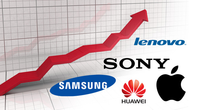Smartphones ©Lenovo, Samsung, Sony, Huawei, Apple, Wilm Ihlenfeld � Fotolia.com