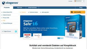 Verschlüsselungs-Programm von Steganos ©Screenshot: Steganos.de