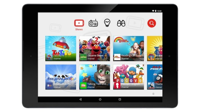 YouTube Kids auf Android-Tablet ©YouTube