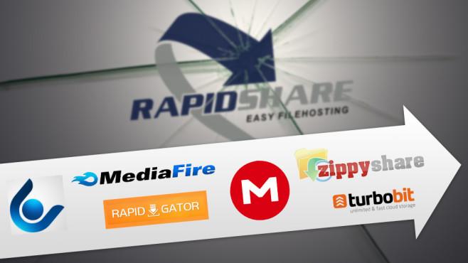 Rapidhsare-Alternativen im Überblick ©rcfotostock – Fotolia.com, Rapidshare, Uploaded, MediaFire, RapidGator, Mega, Zippyshare, Turbobit
