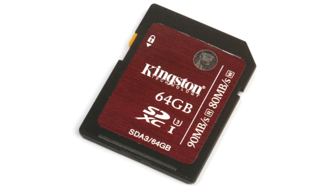 Kingston SDXC Ultra High-Speed 64GB Class 3 (SDA3/64GB) © COMPUTER BILD