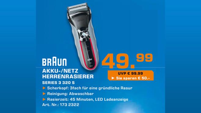 Braun 320s-4 Series 3 + Reinigungsspray ©Saturn
