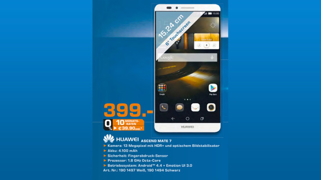 Huawei Ascend Mate 7 © Saturn
