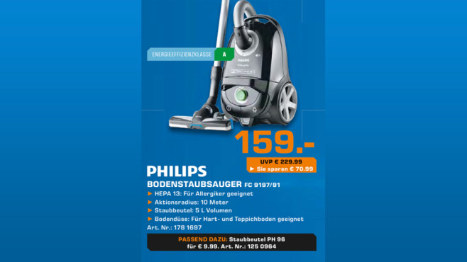 Philips FC 9197/91 Performer Pro Eco © Saturn