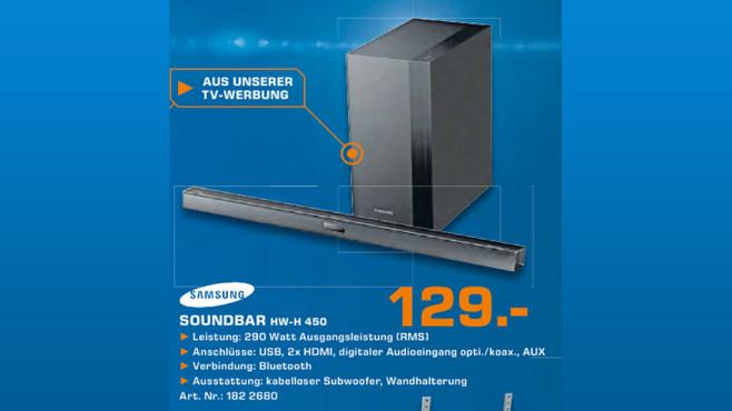 Samsung HW-H450 ©Saturn