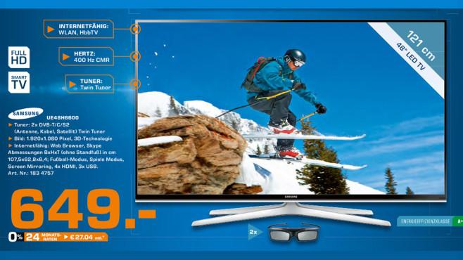 Samsung UE48H6600 ©Saturn