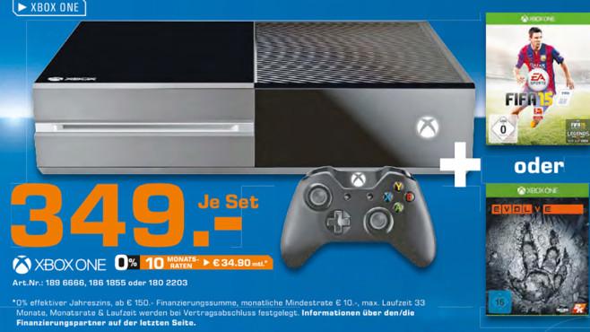 Set aus Xbox-One-Konsole und Spiel ©Saturn