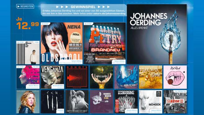 Verschiedene Musik-CDs ©Saturn