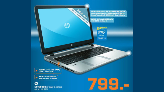 HP Envy 15-k070ng © Saturn