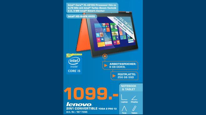 Lenovo IdeaPad Yoga 2 Pro ©Saturn