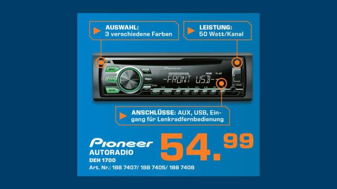 Pioneer DEH-1700UB ©Saturn