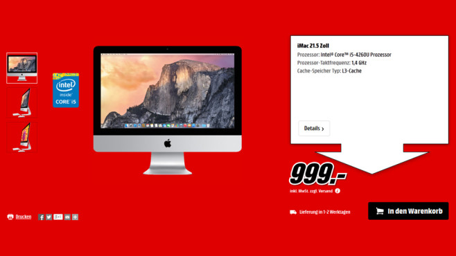 "Apple iMac 21,5"" © Media Markt"
