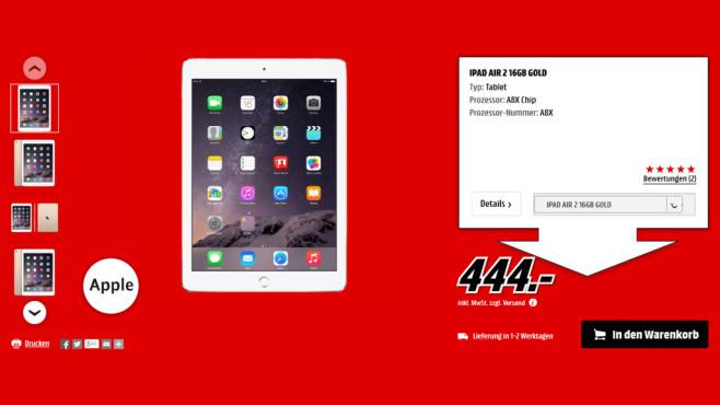 Apple iPad Air 2 16GB WiFi ©Media Markt
